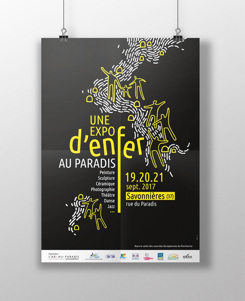 création affiche culturelle - Tours 37