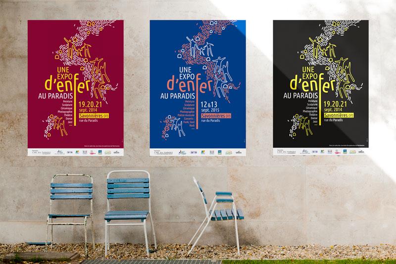 création affiches culturelles - Tours 37