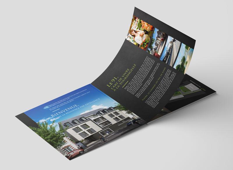 création plaquette immobilière - Tours 37
