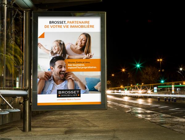 Brosset Immobilier publicité notoriété